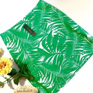 Talbots Green Palm Leaves Print Pencil Skirt